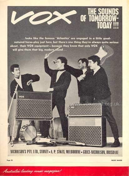 The Atlantics, Music Maker magazine (Australia), 1964