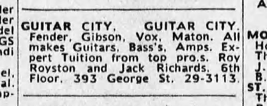 Vox in the Sydney Morning Herald, May 1964