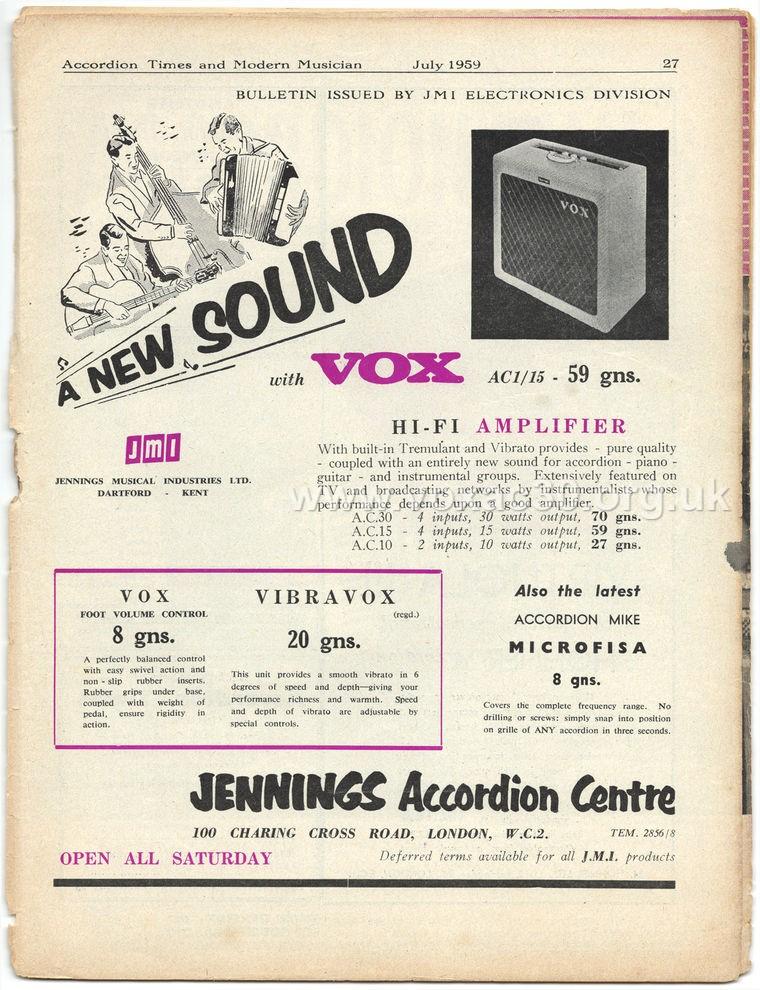 Accordion Times, July 1959