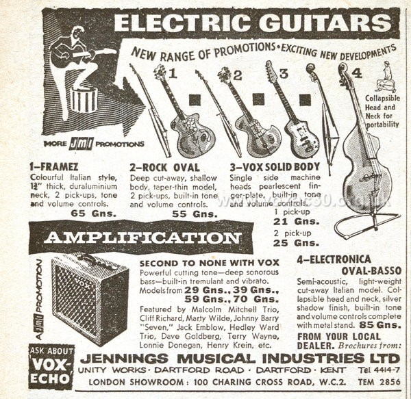 Vox Electro Bass, 1959