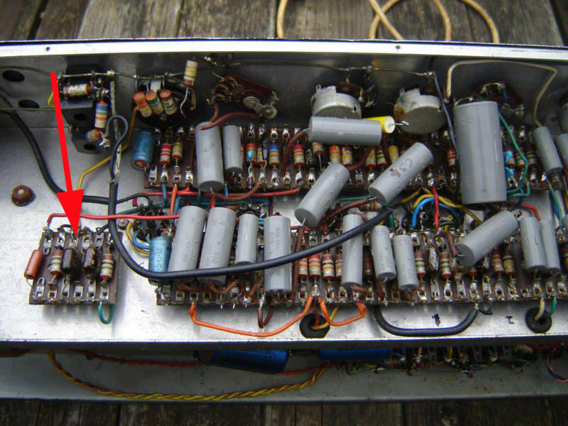 Vox AC30/4 with WIMA Tropydur capacitors