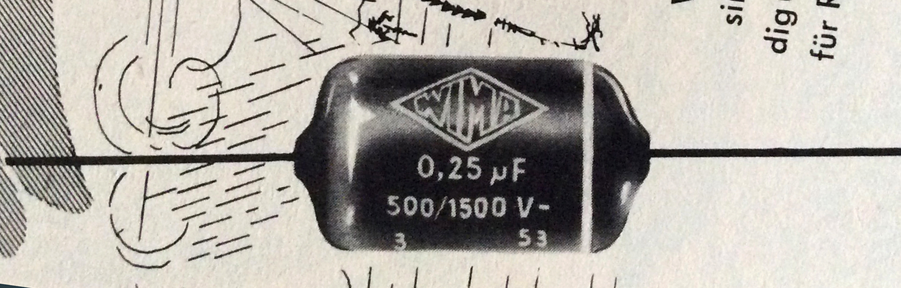 WIMA Tropydur capacitor ad detail