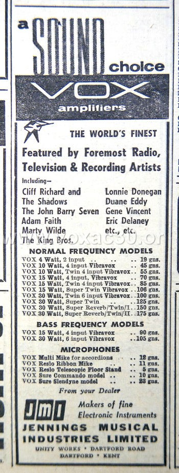 Melody Maker magazine, 12th May, 1962
