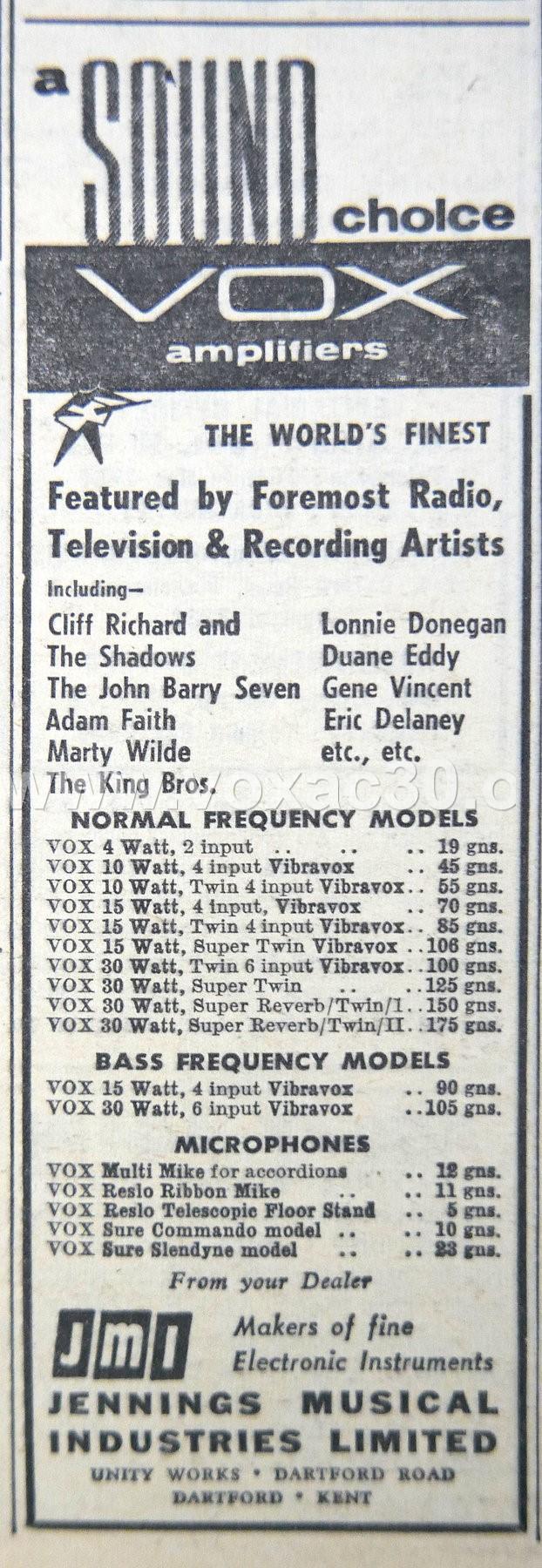 Melody Maker magazine, 25th May, 1962