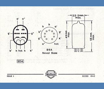 Vox AC30, the Mullard ECC82 double triode preamp valve