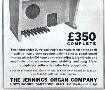 Jennings Organ Models