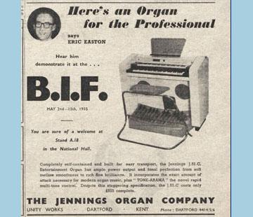 Jennings Organ Company - 1955, the J50B, J5B1 and J52B