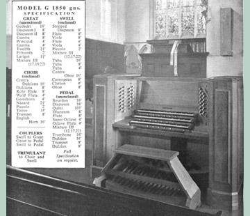Jennings Church Organs, 1958