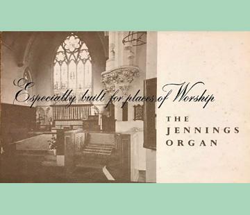 Jennings Organ Company, Church Organs, 1960
