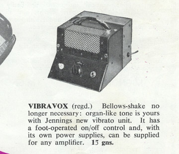 Jennings Musical Industries Vibravox unit