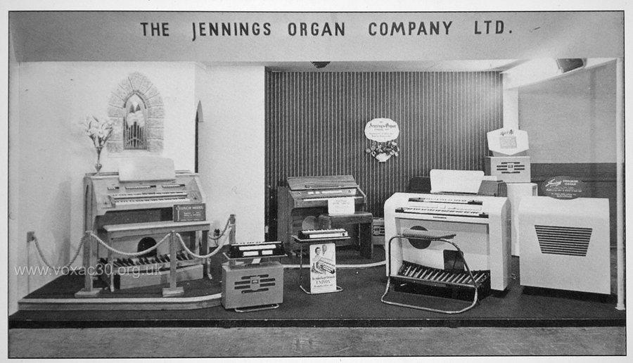 Jennings Organ Company, presence at the British Industries Fair