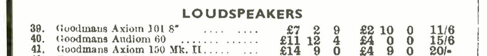 Goodmans Audiom 60, Wireless World 1953