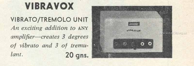 Accordion Times, April 1960, the Jennings (Vox) Vibravox unit - version 3