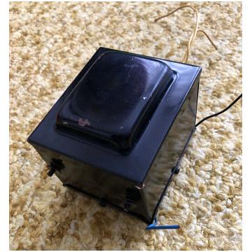 Vox AC30 output transformer, c. 1969-1972, black encapsulated, made in Italy